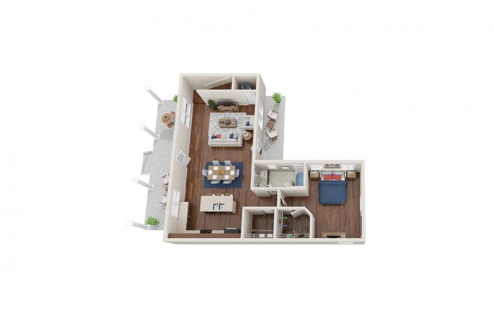 Davenport - 4 bedroom floorplan layout with 3 baths and 2066 square feet. (Floor 1)
