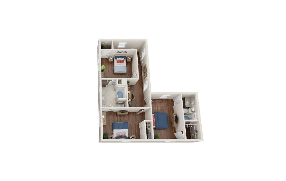 Davenport - 4 bedroom floorplan layout with 3 baths and 2066 square feet. (Floor 2)